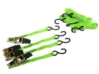 Faithfull Ratchet Tie Downs Set 4 Piece